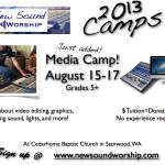 New Sound Worship Camp Ads 2013 - Media